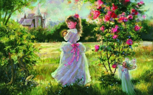 mary-baxter-st-clair-little-princess-girl-and-fairy-painting-1440x900-wide-wallpapers-net